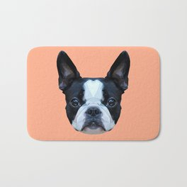 Frenchie / Boston Terrier // Peach / Apricot Bath Mat