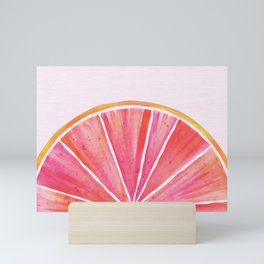 Sunny Grapefruit Watercolor Mini Art Print