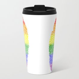 LGBT Pride Fingerprint (Gay Pride) Travel Mug