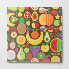 Fruit Patten Metal Print