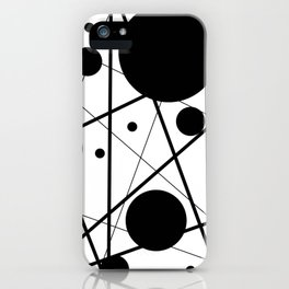 Abstract Lines and Dots iPhone Case