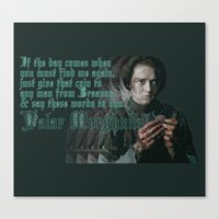 valar morghulis Canvas Prints featuring Arya Stark, Valar Morghulis by Your Friend Elle