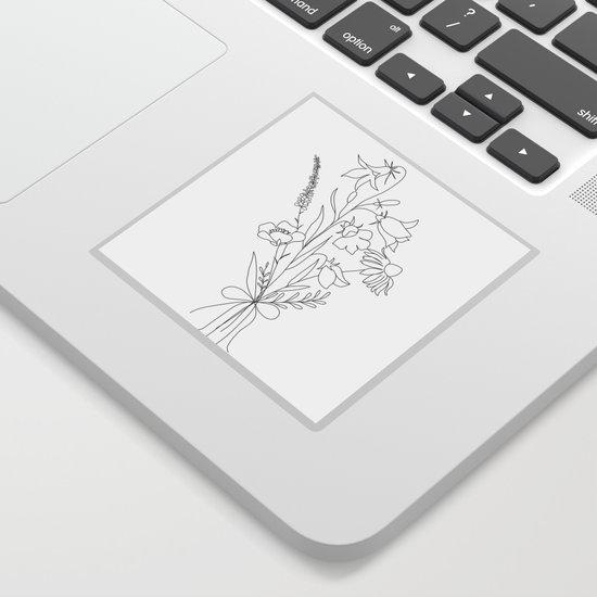 Small Wildflowers Minimalist Line Art by nadja1