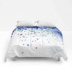 COBALT SPLATTER # 2 Comforters