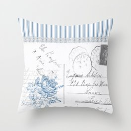 Lucienne in Blue Throw Pillow