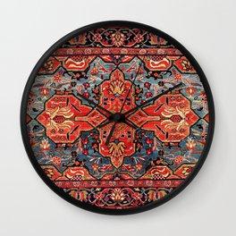 Kashan Poshti Central Persian Rug Print Wall Clock