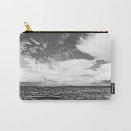Black And White Lake Landscape - White Cumulus Clouds - Scandinavia - #Society6 #buyart Carry-All Pouch