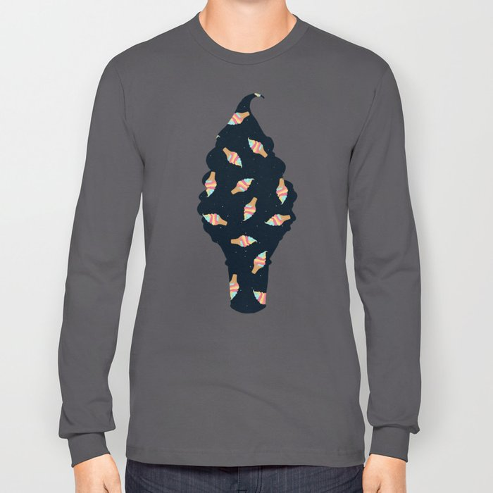 Soft Serve in Space Long Sleeve T-shirt