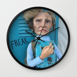 Jerri Blank, Strangers With Candy Doll, Collage Wall Clock