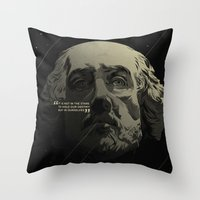 shakespeare Throw Pillows featuring Shakespeare / Destiny by MORPHEUS