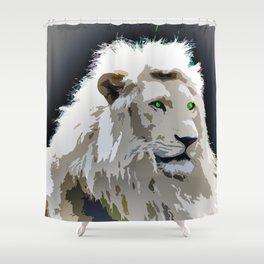 White Lion Shower Curtain