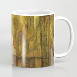 New York City Sunset landscape painting by M. Bishop Coffee Mug