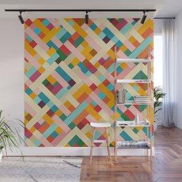 colorful retro striped Were Wall Mural