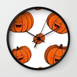 The happy pumpkin Wall Clock
