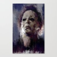 michael myers Canvas Prints featuring Michael Myers by 炎リュウ