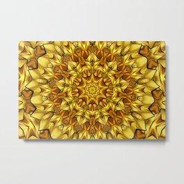 Yellow brown kaleidoscope Metal Print