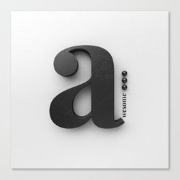 A[wesome] Canvas Print
