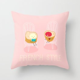Apply you like every morning,then have a nice day !  Throw Pillow