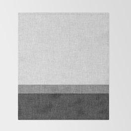 Black and White Graphic Burlap Pattern Stripe Throw Blanket