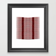 Black and red lines background Framed Art Print