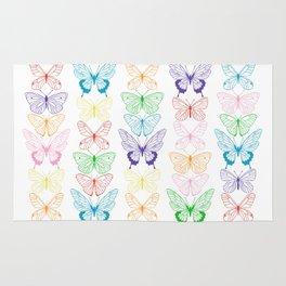Butterfly Rainbow Rug