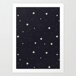 stars pattern Kunstdrucke