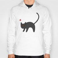 kitty Hoodies featuring Kitty by RaviusKiedn