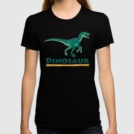 velociraptor dinosaur. T-shirt