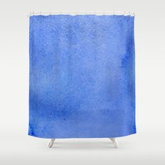 Azure watercolor Shower Curtain