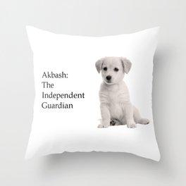 Akbash Throw Pillow