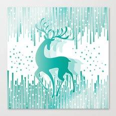 Dancing Deer Canvas Print