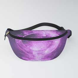 Planet Mercury Symbol. Mercury sign. Abstract night sky background. Fanny Pack