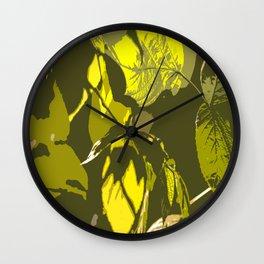 Autumn leaves bathing in sunlight #decor #society6 Wall Clock