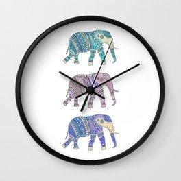 Three Elephants Wall Clock