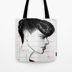 Fashion Hair with Ledger Flair Tote Bag