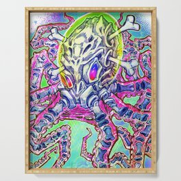 Skeleton Octopus Alien Serving Tray