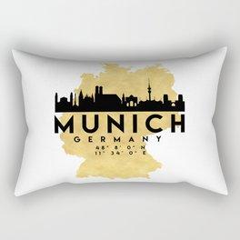 MUNICH GERMANY SILHOUETTE SKYLINE MAP ART Rectangular Pillow