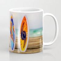 surfboard Mugs featuring Surfboard by Leonardo Vega