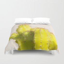 lemon cactus Duvet Cover
