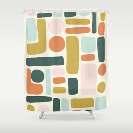 Abstract No.6 Shower Curtain
