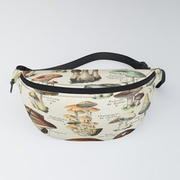 Vintage Mushroom & Fungi Chart by Adolphe Millot Fanny Pack
