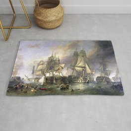 The Battle of Trafalgar Rug