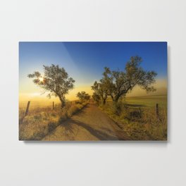 Misty road to the sun Metal Print