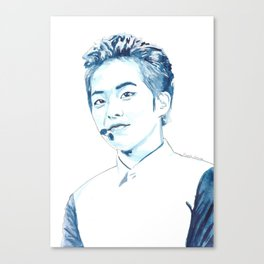 Xiumin Watercolour Design Canvas Print