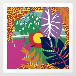 colorimetria botanica Art Print