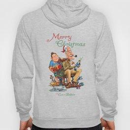 Mama and Papa Brickel on Christmas Eve Hoody