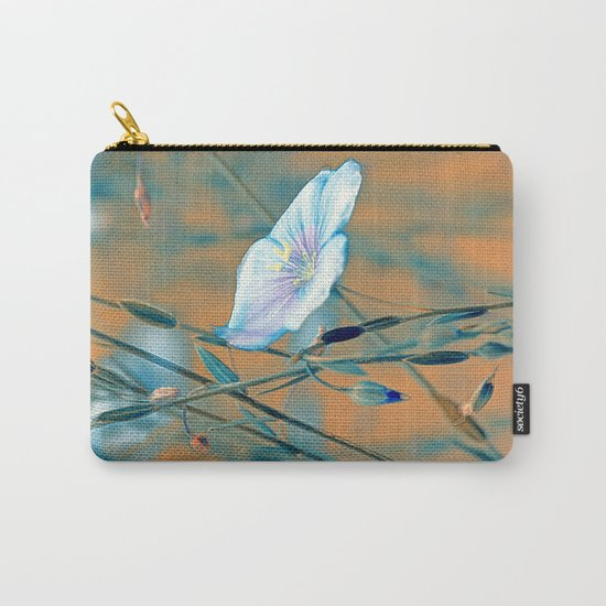 Flax(turquoise). Carry-All Pouch