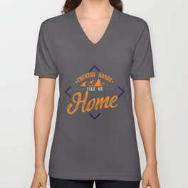 Country Road Take Me Home | Best Songs Hits print Tee Gift Unisex V-Neck