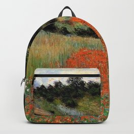 Poppy Field in a Hollow near Giverny by Claude Monet Backpack