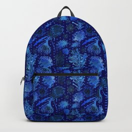 Blue Australian Native Floral Print Backpack